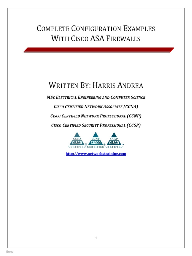 COMPLETE CONFIGURATION EXAMPLES WITH CISCO ASA FIREWALLS pdf