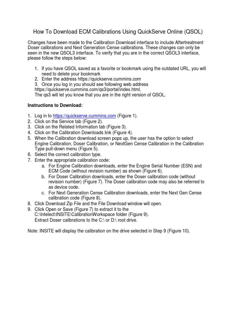 Manual Bajar Calibraciones | Tab (Gui) | System Software