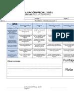 Rúbrica de La Evaluación Parcial