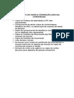 Relação de Documentos Necessários Para as Açoes