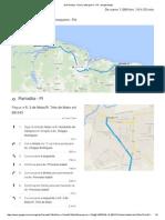 De Parnaíba - Piauí a Mosqueiro - PA - Google Maps