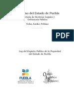 Cappc-ley Del Registro Publico de La Propiedad Del Estado de Puebla