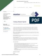 Creating a Research Agenda