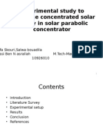 Experimental Study of Two Types of Solar Heat