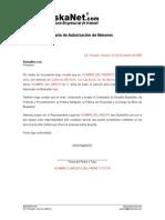 BuskaNet Carta Autorizacion Menores