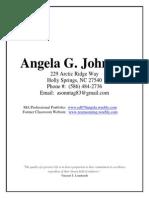resume for angela johnson