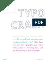 How Singles Typography Crash Course