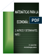 I- Matrices y Determinantes