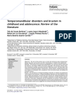 Temporomandibular Disorders and Bruxism in Childhood and Adolescence Issue 3