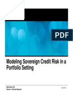 Modeling Sovereign Credit Risk in a Portfolio Setting - April 2012 - Final