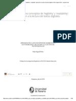 Aproximación a Los Conceptos de 'Legibility' y 'Readability'_ Aplicación a La Lectura de Textos Digitales _ Pedro Sigaud-Sellos - Academia