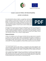 Access to Justice for Children With Mental Disabilities, Project Orientation Document