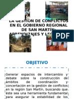 GESTI+ôN DE CONFLICTOS EN EL GOBIERNO REGIONAL ppt