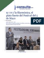 27-04-2015 E-consulta.com - El Tri y La Filarmónica, El Plato Fuerte Del Festival Del 5 de Mayo