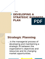 Developing Astrategic Business Plan