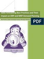 Sales Forecasting Best Practices and Their Impact on DRP and MRP Demand Planning