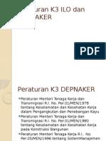 Peraturan K3 ILO dan DEPNAKER.pptx