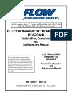 Flow Technology Tm Mc608 Magnetic Flow Transmitter