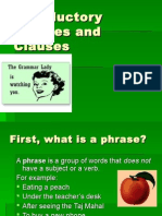 Introductory Phrases and Clauses[1]