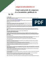 Normele Privind Contractele de Asigurare - specifice locuintelor