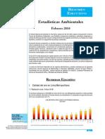Estadisticas Ambientales Febrero 2014