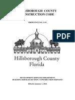 Hillsborough County Construction Code 2014 & FLOOD ORD