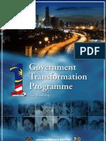 Gorvernment Malaysia Transformation Program Roadmap 2010-2012