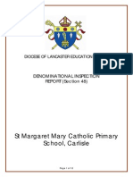 St Marg Mary Section 48 Diocesan Inspection Report June 2014