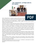 Francisco- Palabras ante persecución de cristianos 16-2-14 Asesinados por ser cristianos.pdf