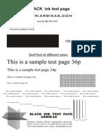 Black Ink Test New