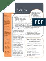 calcium handout