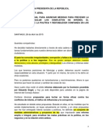 Chile Discurso Bachelet 28 Abril 2015