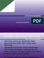 BAB 1 Pengertian Teknologi Informasi