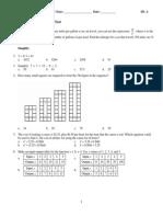 Algebra Semester 1 Practice Test