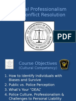 Cultural Professionalism and Conflict Resolution