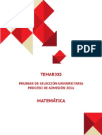 2016 Demre Temario Matematica