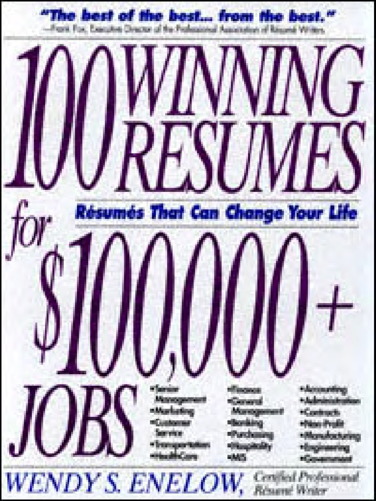100 winning resumes for top jobs r sum accounting Example of Curriculum Vitae Format for College Directors
