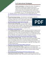 project 3 instructional strategies websites