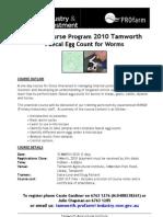 Short Course Program 2010 Tamworth