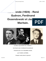 Table Ronde (1924) - Guénon, Ossendowski, Maritain.