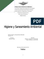 Higiene y Saneamiento Ambiental