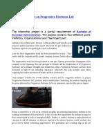 Internship Report on Progressive Footwear Ltd