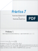 Ejercicios Funciones analíticas y elementales