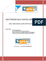 SAP FICO Real time issues & Solutions
