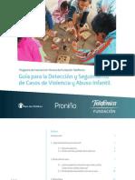 Guia Par La Deteccion y Seguimiento de Casos de Violencia y Abuso Infantil