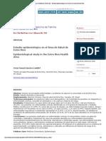 Revista Clínica de Medicina de Familia - Estudio epidemiológico en el Área de Salud de Entre Ríos