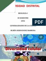 Presentación Generalidades de Las Células, Organelos.