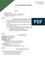ism - spring final presentation outline