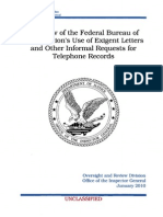 A Review of the FBI's Exigent Letters and Other Informal Requests for Telephone Records