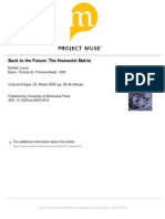 Bartlett - Back to the Future the Humanist Matrix